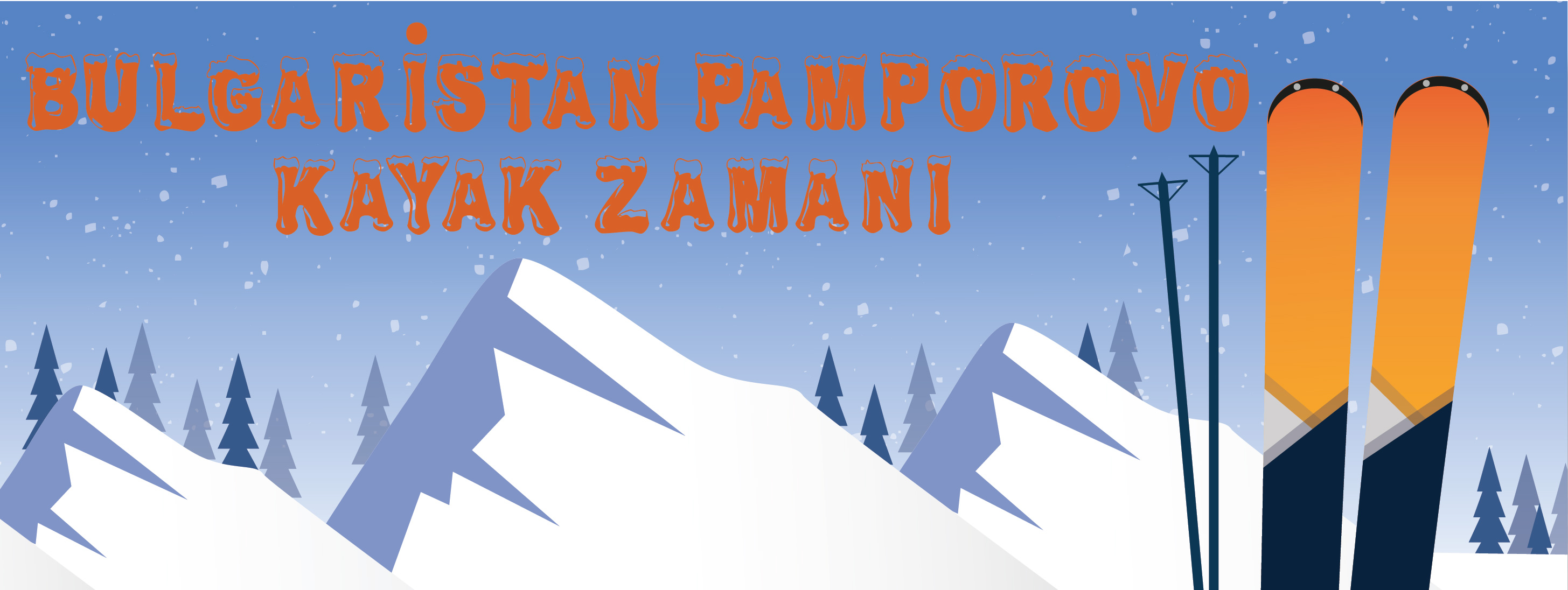 Pamporovo kayak zamanı